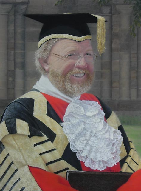 """Bill Bryson, Chancellor of Durham University 2011"" by Gillie Cawthorne"