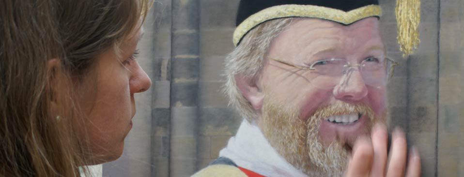 Bill Bryson. A Pastel Portrait by Gillie Cawthorne.