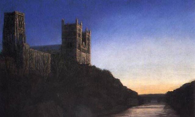 """Durham Cathedral, Sunset"""