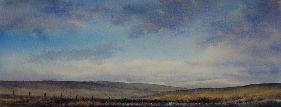 Flinty Fell Nenthead Watercolour