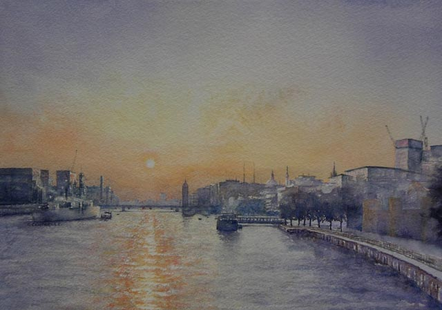 """Thames Sunset"""