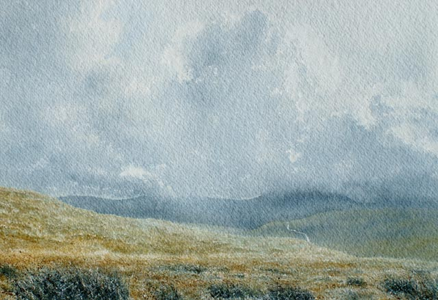 Road to Nowhere - Watercolour landscape painting by Gillie Cawthorne