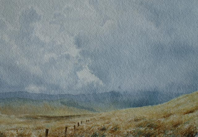 Rain clouds over Alston Moor
