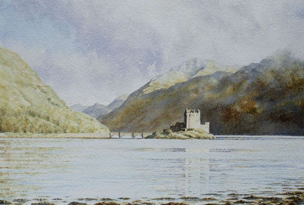 Eilean Donan Castle Watercolour