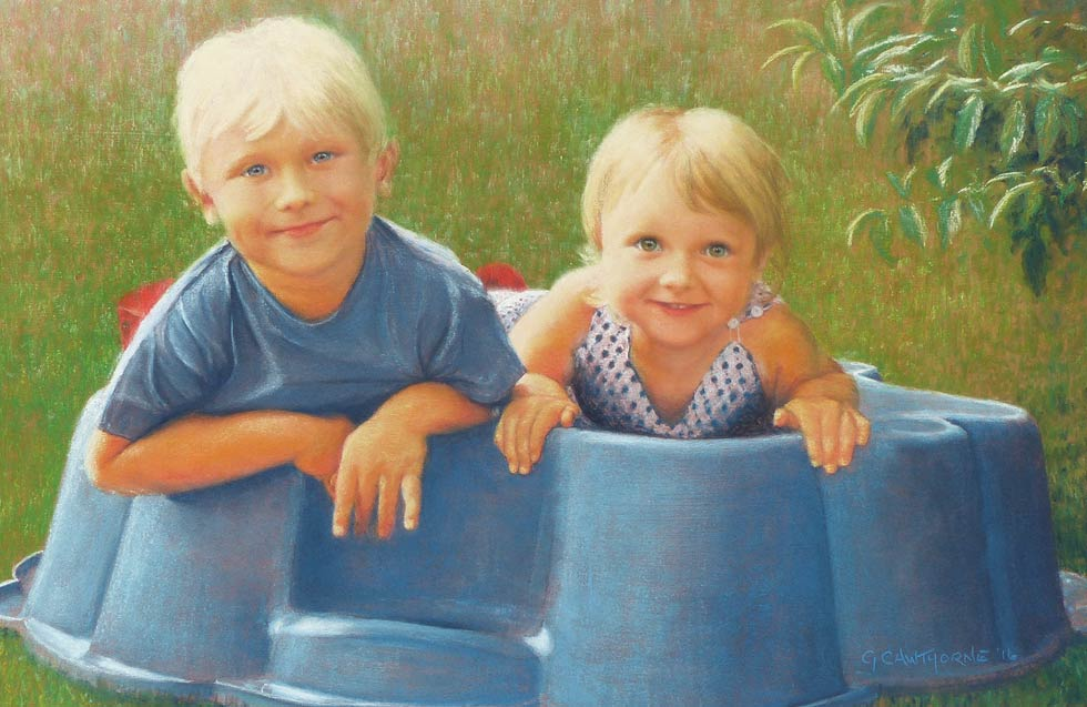 Francis and Sofia Pastel Portrait