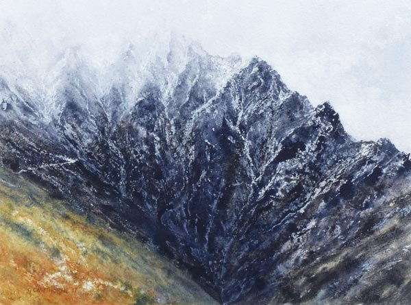 Blencathra Snow, watercolour