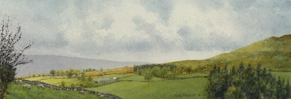 Toward Tynehead painting by Gillie Cawthorne