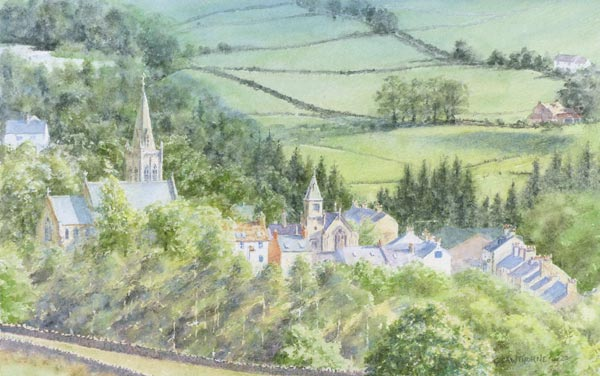 Alston Townfoot painting by Gillie Cawthorne