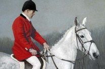 The End of an Era – pastel portrait of huntsman and horse