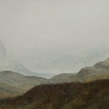 Glen Coe, Scottish Highlands. Watercolour