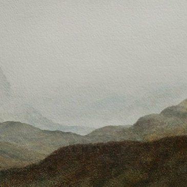 Glen Coe, Scottish Highlands. Watercolour