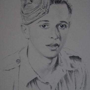 A portrait of Ken Cawthorne as a young man