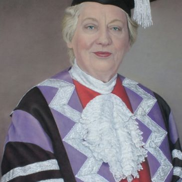 A pastel portrait of Anne Galbraith – Chair of Durham University Council