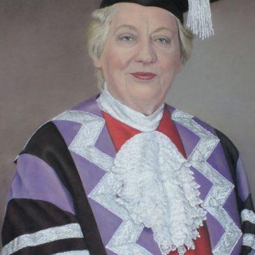 A pastel portrait of Anne Galbraith – Chair of Durham University Council