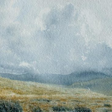 Road to Nowhere – painting of grouse moor near Alston, Cumbria