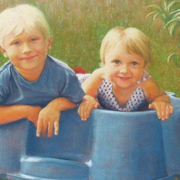 Francis and Sophia Pastel Portrait