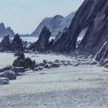 Marloes Sands, Pembrokeshire – watercolour painting