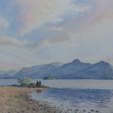 Catbells Evening, Lake District painting