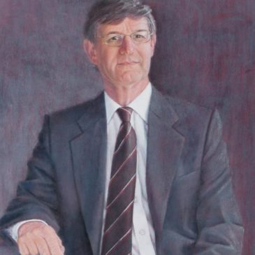 Professor John Ashworth Pastel Painting