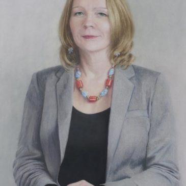 Professor Maggie O'Neill Pastel Portrait