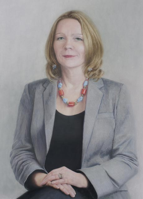 Prof. Maggie O'Neill portrait by Gillie Cawthorne