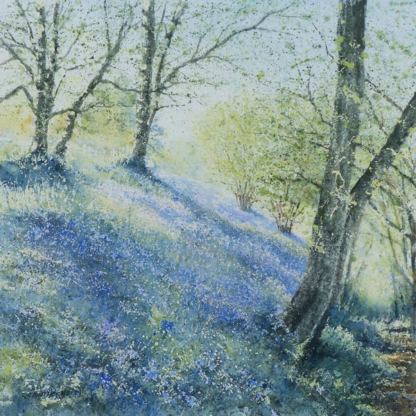 Bluebell Wood Afternoon painting by Gillie Cawthorne