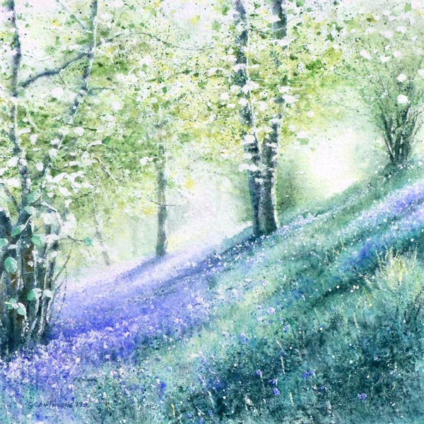 The Bluebell Wood painting by Gillie Cawthorne