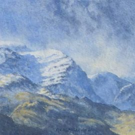 Painting of the Eastern Fells of the Lake District in winter