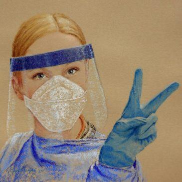 #portraitsfornhsheroes ICU nurse Carmen Scott