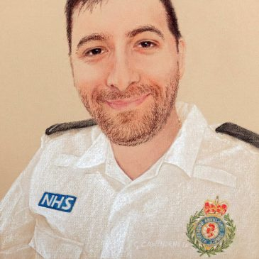 #portraitsfornhsheroes paramedic Chris Hyams
