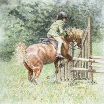 The Flyer 1 – horseriding painting