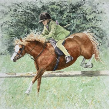 The Flyer 2 – Pony Club painting