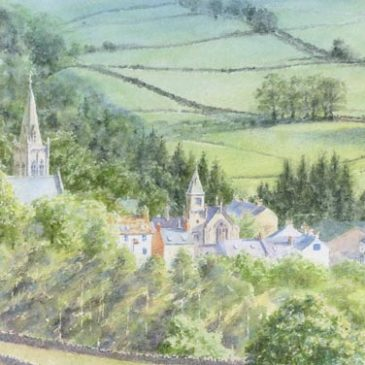 Alston Townfoot watercolour painting