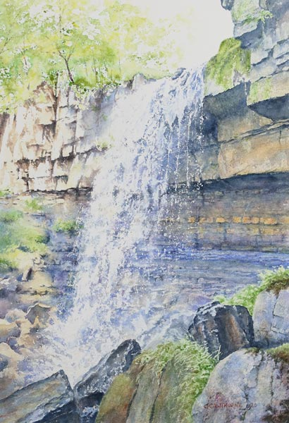 Painting of Ashgill Force, Cumbria