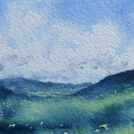 Alston Summer watercolour painting