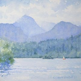 """Catching the Breeze on Derewentwater"" watercolour"