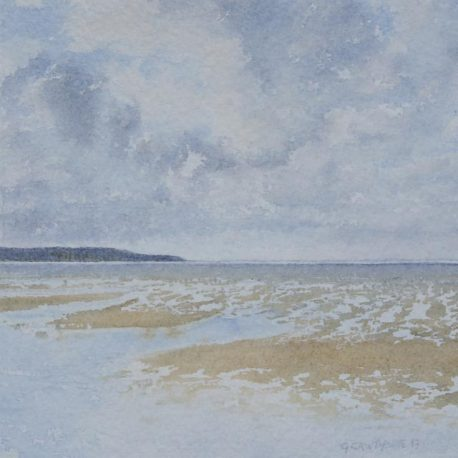 North From The Causeway 1 (Holy Island) watercolour