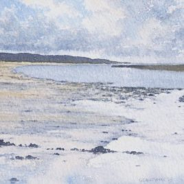 South From The Causeway (Holy Island) watercolour