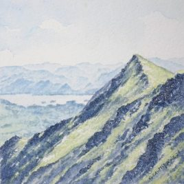 """Hall's Fell Top, Blencathra"" watercolour"
