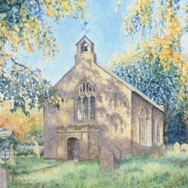 St. John's Church, Garrigill watercolour