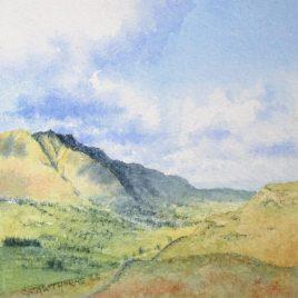 """Threlkeld and Blencathra"" watercolour"