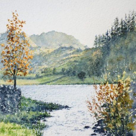 """Watendlath Tarn"" watercolour"