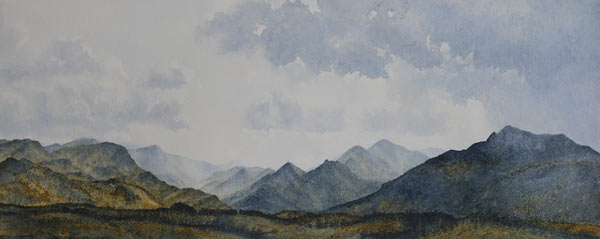 Derwent Fells from the East - watercolour