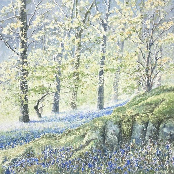 Borrowdale Bluebells - Cumbrian watercolour painting