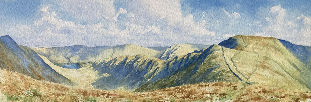 High Street, Riggindale and Haweswater painting