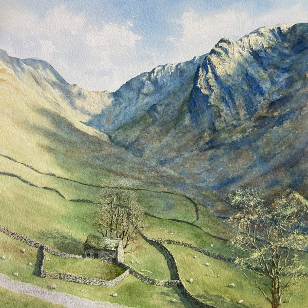 Raven Crag & Stoney Cove Pike painting