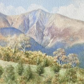 Skiddaw Spring watercolour painting