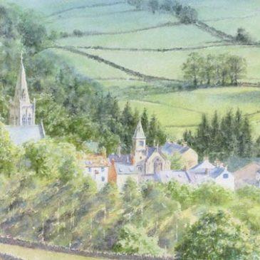 Alston Townfoot, Pennine watercolour