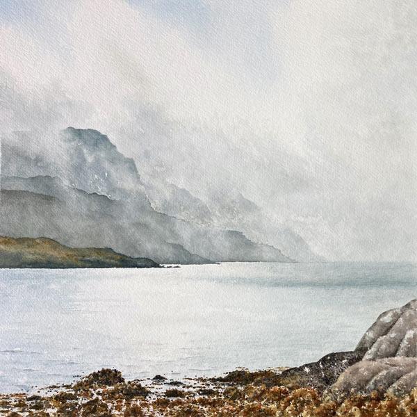 Lifting Clouds, Isle of Harris watercolour